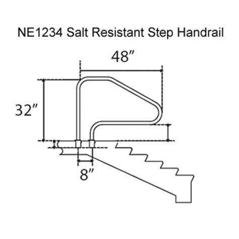 pool ladders salt resistant in ground swimming pool in ground handrail white pricefalls com