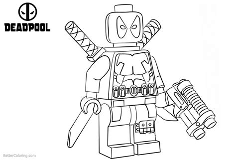 Lego Marvel Coloring Pages by Lego Deadpool Coloring Pages Free Printable Coloring Pages