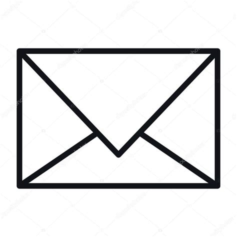 Vector: sobre carta icono aislado de la carta sobre
