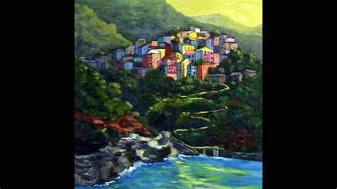 Cinque Terre Amalfi Coast In Italy Oil Paintings By Mijoa