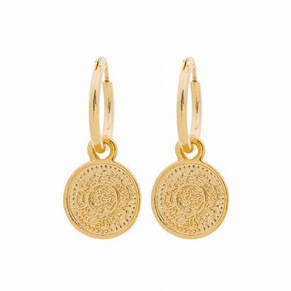 Coin Oorbellen Capricci Hoops Gouden Oorringen Muntje