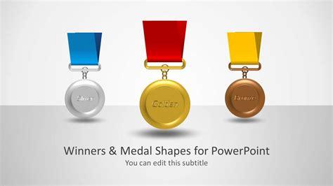 winners medal shapes  powerpoint slidemodel