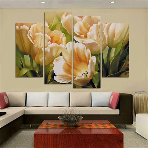 compra flor pintura al oleo tulipanes  al por mayor
