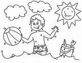 Coloring Ball Boy Playing Playa Colorear Ballon Pelota Vacation Plage Colornimbus Dibujos Objetos Objets Coloriage Boys Dessin Dibujo Coloriages Colorier sketch template