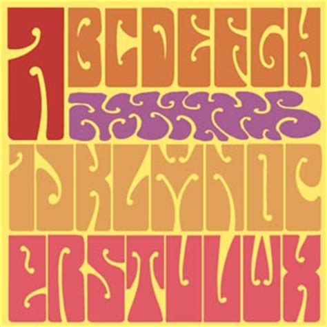 psychedelic font collection fontcraft scriptorium fonts art and design