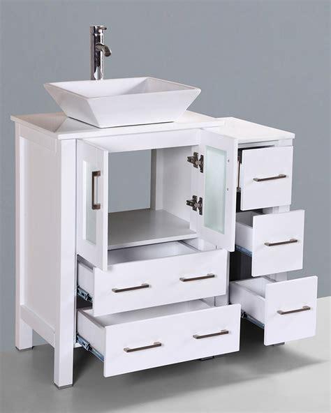 square vessel sink vanity white 36in square vessel sink single vanity by bosconi