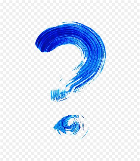 blue watercolor question mark png