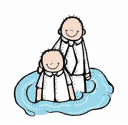 Baptism Clip Lds Clipart Mormon Illustrating Melonheadz