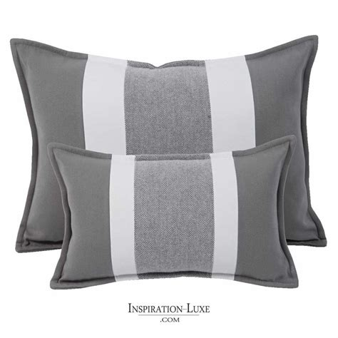 coussin de canapé 60 x 60 coussin rectangulaire de luxe é gris et blanc 2
