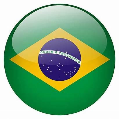 Brasil Yellow Flag Brazilian Circle Triangle Button