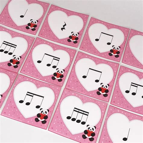 Cut out the heart patterns to use as. Valentine Heart Rhythms, a printable teaching aid from ...