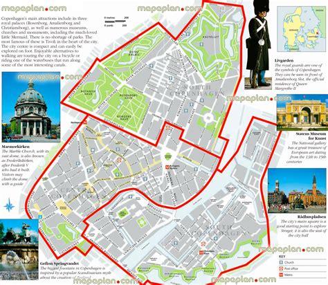 Copenhagen Attractions Map And Travel Information