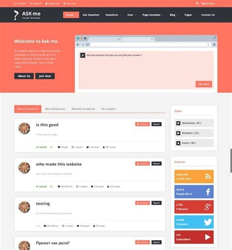 50 best wordpress themes for bbpress forums in 2018
