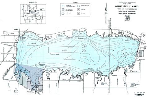 Boats For Sale St Marys Ohio by Grand Lake St S Map From Gofishohio Your
