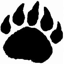 Image result for Bear Paw Print Clip Art
