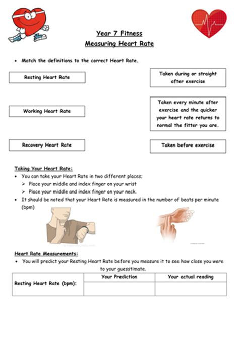 ks3 fitness heart rate circuit lesson worksheet by hayleyanne20 teaching resources