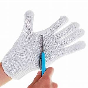 1 Pair Knife Cut Resistant Protective Gloves White Cutting