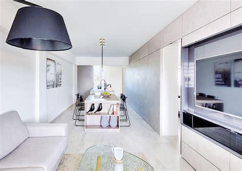 room hdb flat  chinatown features sleek bedroom