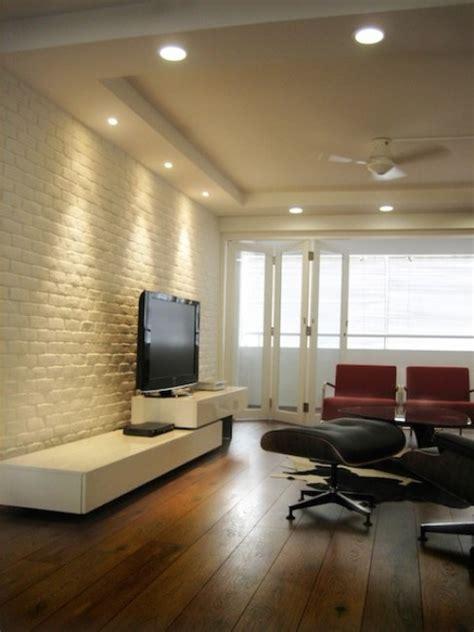 cool living rooms  brick walls digsdigs