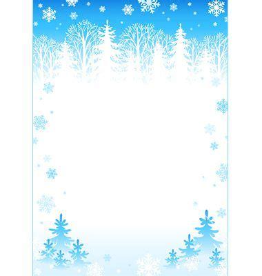 Winter forest background vector Christmas letterhead