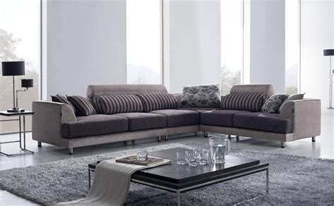 grey modern sectional stunning beige u brown fabric u leather modern sectional sofa