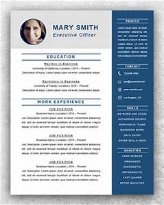 resume template start professional resume templates for word With executive resume template word