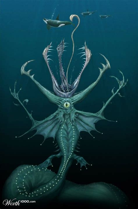 sea monsters worth1000 contests monsters sea monsters creatures creature drawings