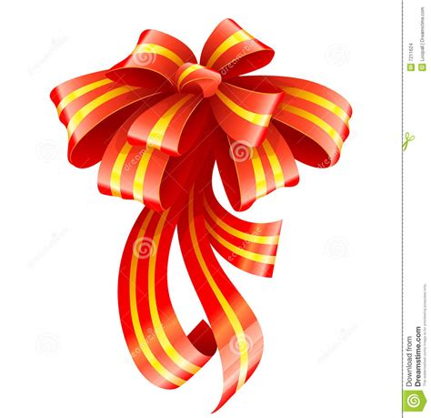 red ribbon for christmas gift decoration stock images image 7211624