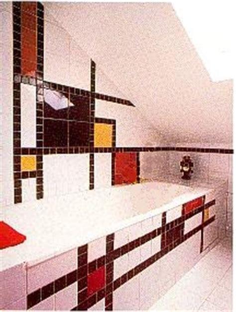 de stijl movement piet mondrian tiled bathroom
