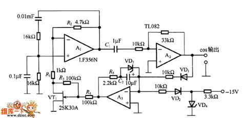 Low Distortion Wien Bridge Oscillator Circuit Diagram
