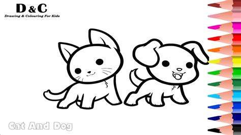 How To Colouring Pages Cat & Dog Coloring Animals Learning