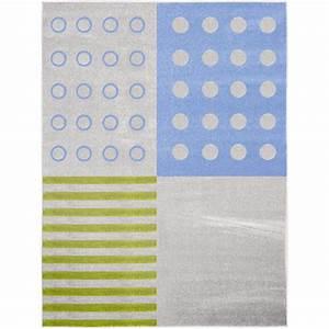 Teppich 3 X 4 M : mytibo teppich punkte und streifen 3 x 4 m ~ Frokenaadalensverden.com Haus und Dekorationen