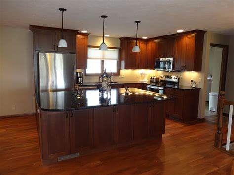 kitchen cabinets blue granite colors for cherry cabinets a kitchen with 2894