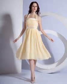 chiffon bridesmaid dresses 100 chiffon halter pleated knee length bridesmaid dresses