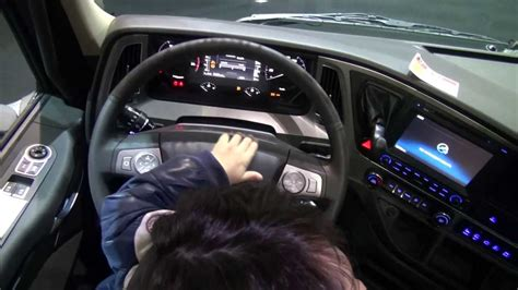 hyundai truck xcient interior design youtube