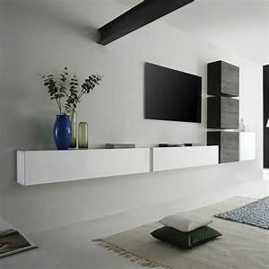 les 25 meilleures idees de la categorie meuble tv suspendu With deco cuisine pour meuble tv wenge
