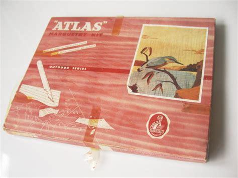 vintageretro atlas handicrafts marquetry kit outdoor