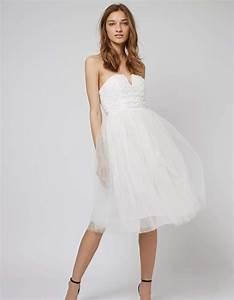 Robe Courte Mariée : robe de mari e courte en tulle topshop les plus belles robes de mari e courtes elle ~ Melissatoandfro.com Idées de Décoration
