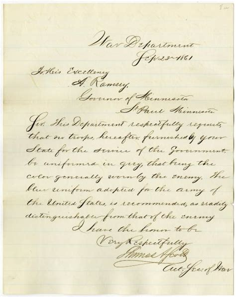 letters from the civil war letter from acting of war requesting that troops 12312