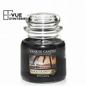 achat yankee candle jar medium black coconut a petits prix With meuble yankee candle