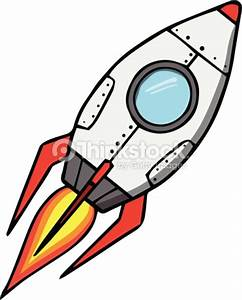Space Rocket Cartoon Vector Illustration Vector Art ...