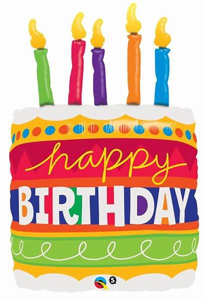 Birthday Cake Happy Candles Balloon Foil Shape