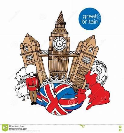 Britain Vector Illustration Hand Drawn Sketch London