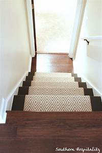 Painted Stairs and Adding Runners - Southern Hospitality
