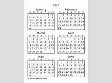 Download 2021 Printable Calendars