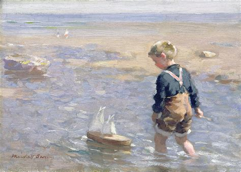Toy Boat In Sea by The Toy Boat Painting By William Marshall Brown