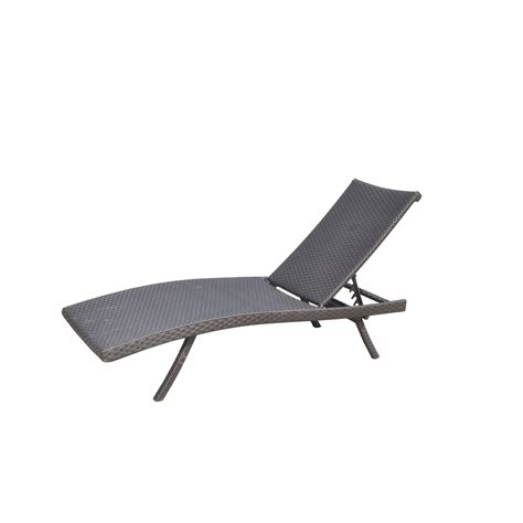 folding outdoor chaise lounge shop allen roth aluminum stackable folding patio chaise