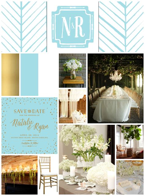 Tiffany Blue Gold And White Mood Board Wedding Planner