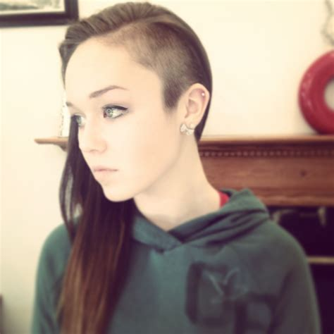 shaved half head hairstyles half shaved head cute half shaved head half shaved