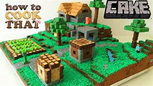 MINECRAFT CAKE VILLAGE How To Cook That Ann Reardon - YouTube